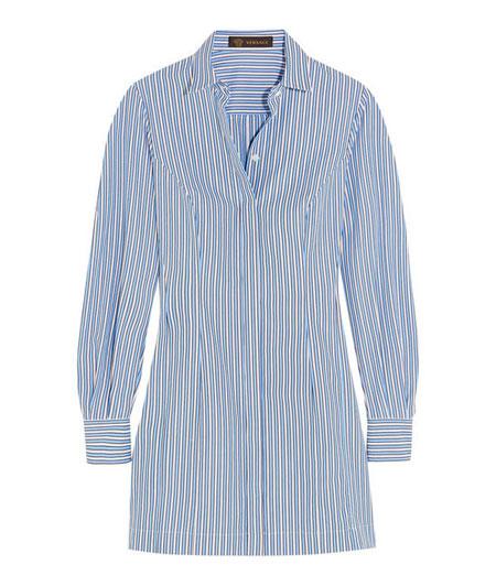 Versace striped cotton poplin shirt dress
