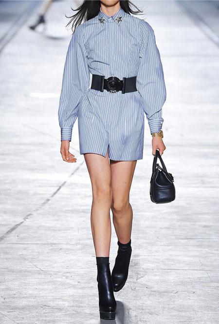 Versace Striped cotton-poplin shirt dress