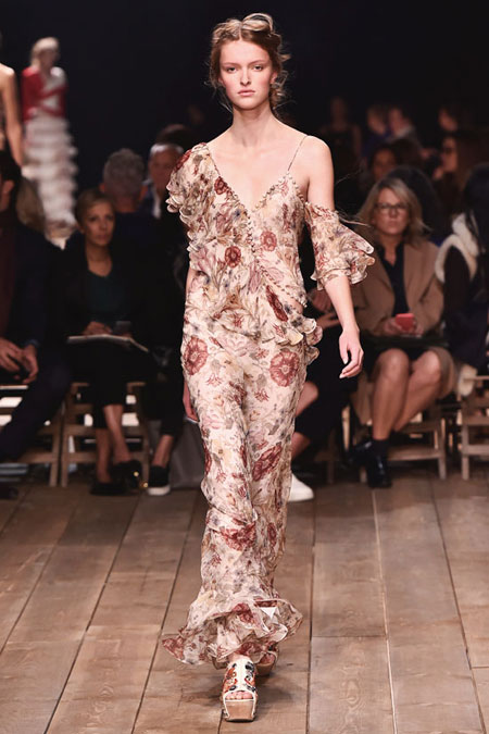 Alexander McQueen Medieval Floral-Print Silk Maxi Dress