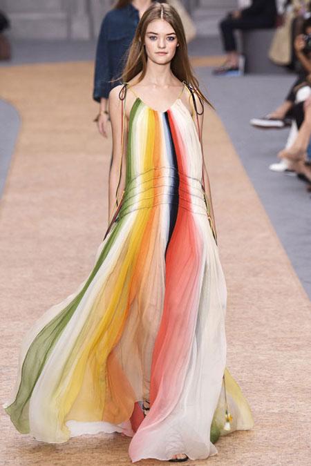 Chloe Halter-Neck Ombre Gown