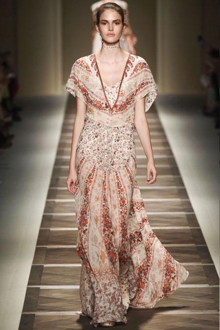 Etro Floral-Print Silk-Georgette Maxi Dress