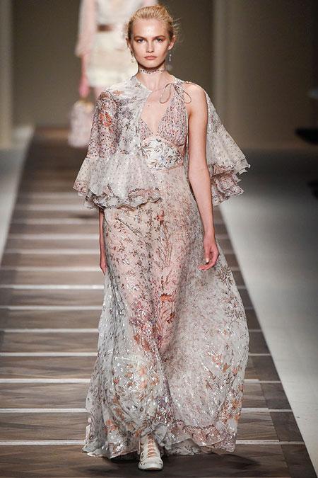 Etro Metallic Floral-Embellished Maxi Dress