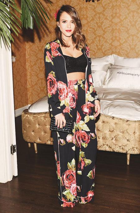 Jessica Alba Dolce & Gabbana PJ Party