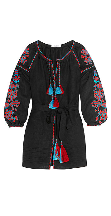 MARCH11 Poppy embroidered linen mini dress