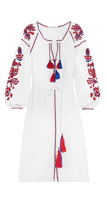 MARCH11 Poppy embroidered linen dress