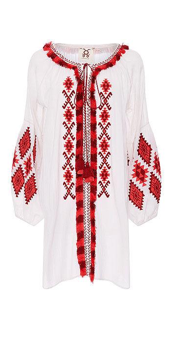 Figue Tula Embroidered Crepe Dress