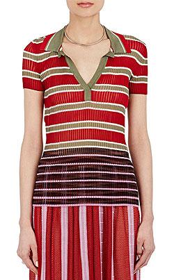 MISSONI Mixed-Stripe Polo Sweater