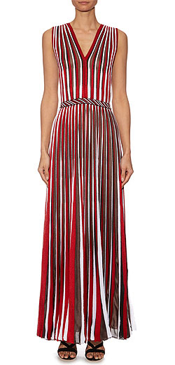 MISSONI Sleeveless striped-knit gown