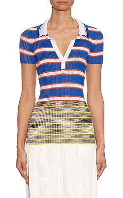 MISSONI Striped knit polo shirt