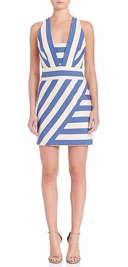 MILLY Striped Mini Dress