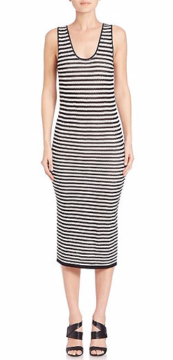 Alice and Olivia Janel Crochet Striped Dress