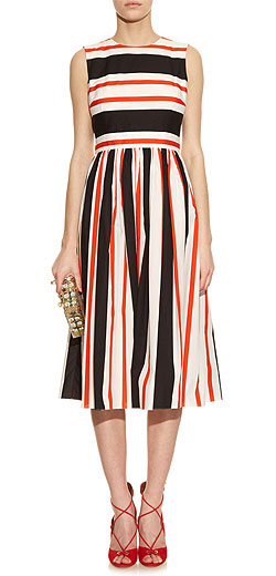 DOLCE & GABBANA Striped sleeveless cotton dress
