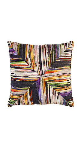 LORI SHINAL Striped-Front Pillow