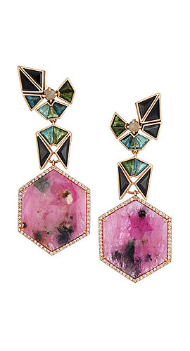 NAK ARMSTRONG Mixed-Gemstone Drop Earrings