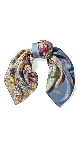 VALENTINO Printed silk-twill scarf