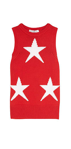 MAX MARA Star-intarsia cotton-blend tank