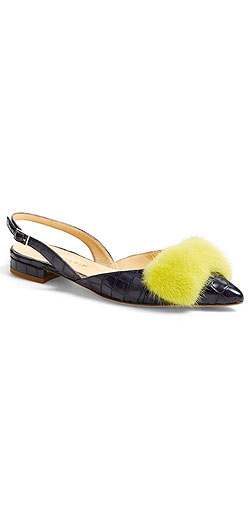 Eugenia Kim 'Minke' Genuine Mink Fur Bow Sandal