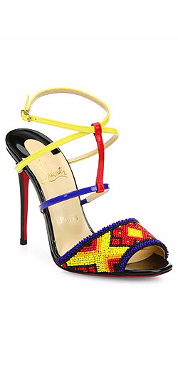 Christian Louboutin Tipika Beaded Leather Sandals