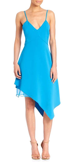 Alice and Olivia Beth Asymmetrical Double Layered Dress
