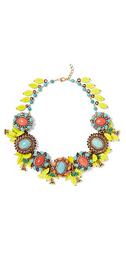 ERICKSON BEAMON Copacabana gold-plated, crystal and enamel necklace