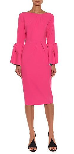 ROKSANDA Margot bell-sleeve crepe dress