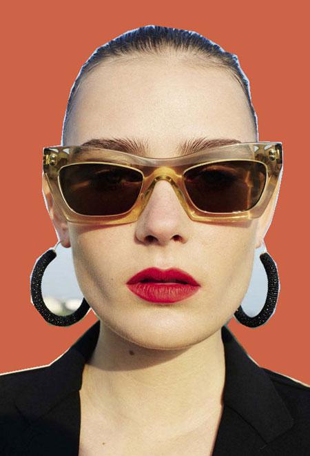 Celine Eva rectangle-frame sunglasses 2016