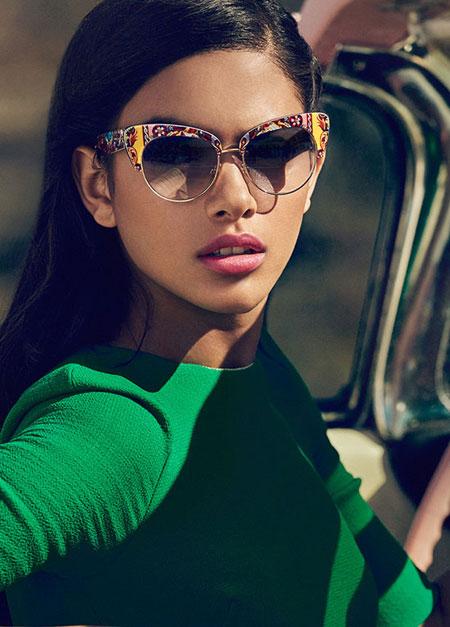 Dolce & Gabbana Sicilian Carretto 52MM Acetate & Metal Cat's-Eye Sunglasses