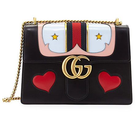 GG Marmont Medium Web Heart Shoulder Bag
