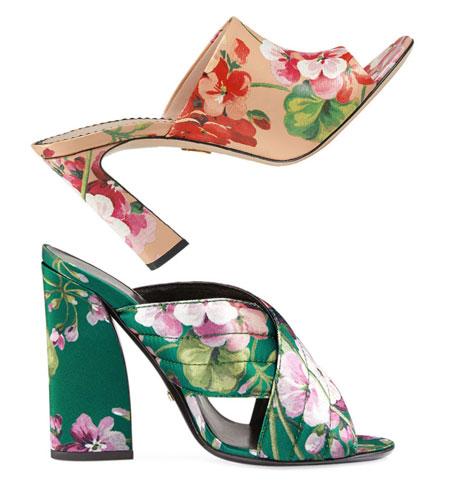 Gucci Blooms Slide Sandals