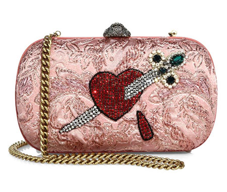 Gucci Broadway Brocade Embroidered Clutch