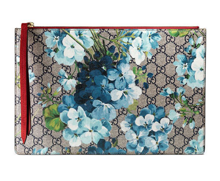 GG Blooms Large Pouch Bag