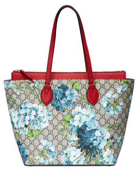 GG Blooms Medium Tote Bag
