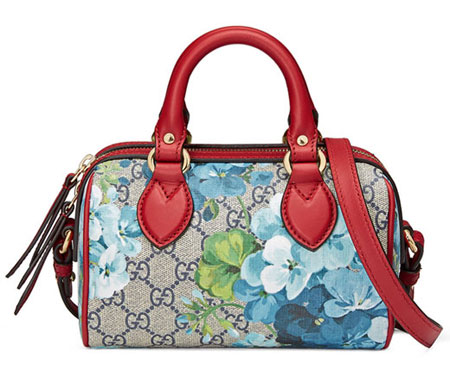 GG Blooms Mini Top-Handle Satchel Bag