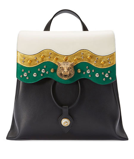 Gucci Malin Medium Studded Leather Backpack