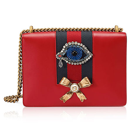 Peony Medium Strawberry Chain Shoulder Bag