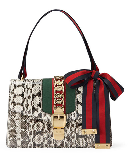 Gucci Sylvie Small Smakeskin Shoulder Bag Pre Fall 2016
