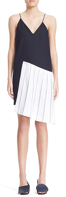Jacquemus Sleeveless Black and White Slip Dress