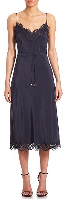 Zimmermann Silk Lace Long Black Slip Dress