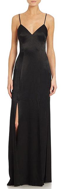 ABS Black Slip Dress Gown
