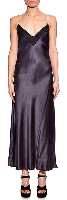 ELLERY Bustier black silk-satin cami slip dress