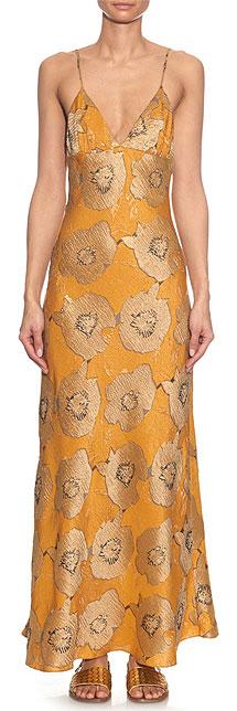 BROCK COLLECTION Dehli floral-jacquard slip dress