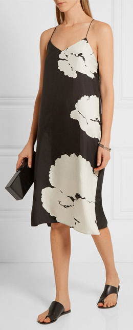 TIBI Amara printed silk-twill dress