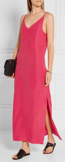 EQUIPMENT Racquel silk-charmeuse maxi slip dress