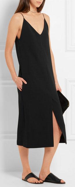 JOSEPH Fifi stretch-crepe midi slip dress