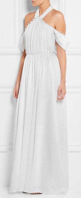 ADEAM Off-the-shoulder shibori crepe gown
