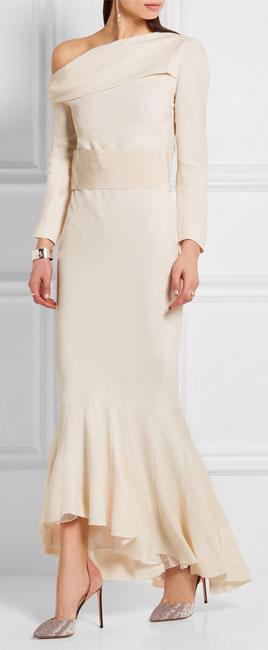 HAIDER ACKERMANN Off-the-shoulder asymmetric crepe gown