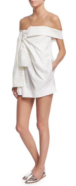 Monse Off-The-Shoulder Shirtdress