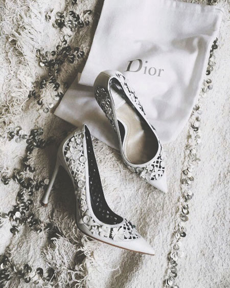 Jeweled Dior Pumps