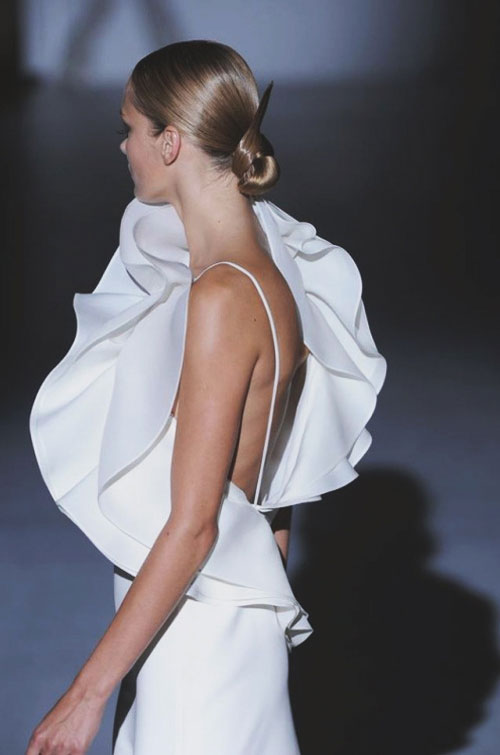 One-Shoulder Ruffled Gown