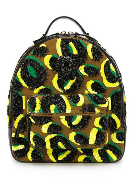 Versace-embellished-backpack-Yellow